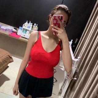 Red and pink Crop Top
