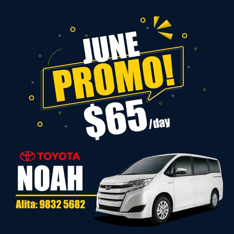 Special Promotion On June! NEW Toyota Noah 1.8 Hybrid 2019