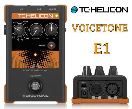 TC-Helicon VoiceTone E1 Echo and Tap Delay Stompbox VOICETONEE1