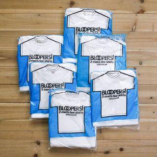《白木11》 🇺🇸 80's Bloopers 2 pack 美國製 水果牌 白色 圓領 短袖 T恤 素T 古著