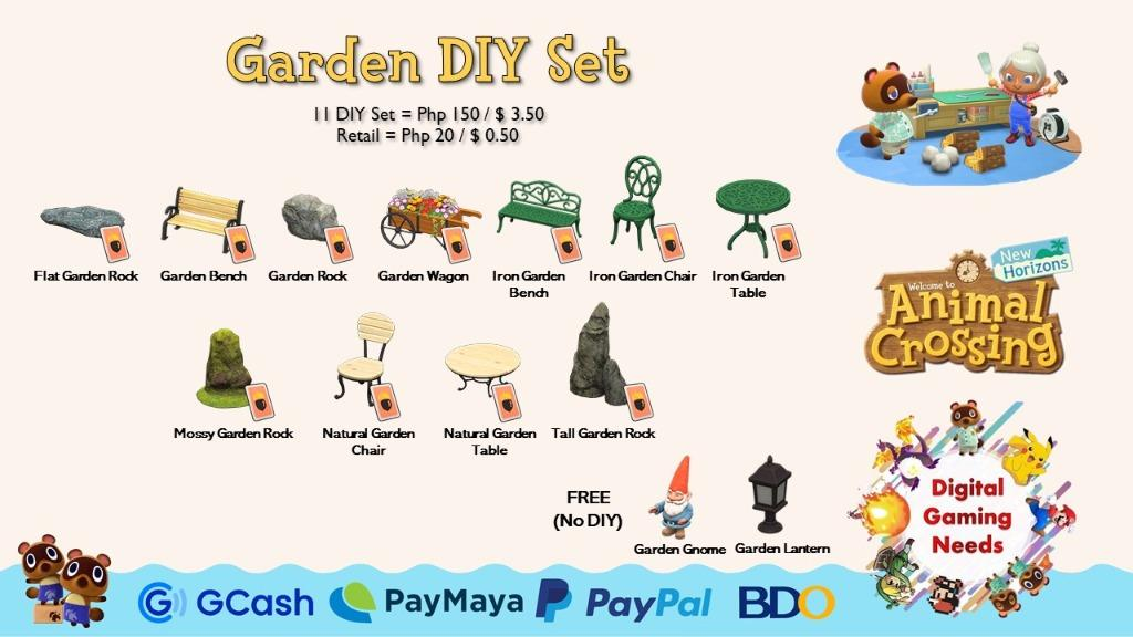 Image of: Animal Crossing New Horizons Diy Sets 2 2 Video Gaming Video Games On Carousell