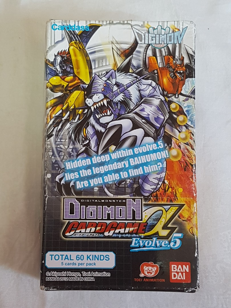 Bandai Digital Monster Digimon Card Game Alpha Evolve 5 New Toys Games Board Games Cards On Carousell