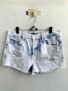 F21 Acid Washed Shorts