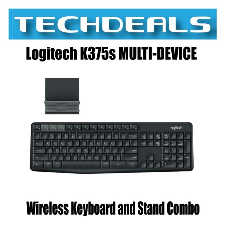 Logitech K375s Multi Device Wireless Keyboard And Stand Combo Dual Mode Wireless Bluetooth Electronics Computer Parts Accessories On Carousell