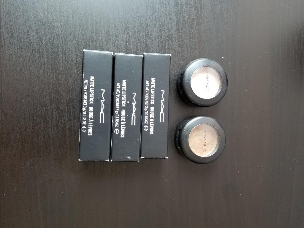 MAC cosmetic eye shadow and lipsticks!