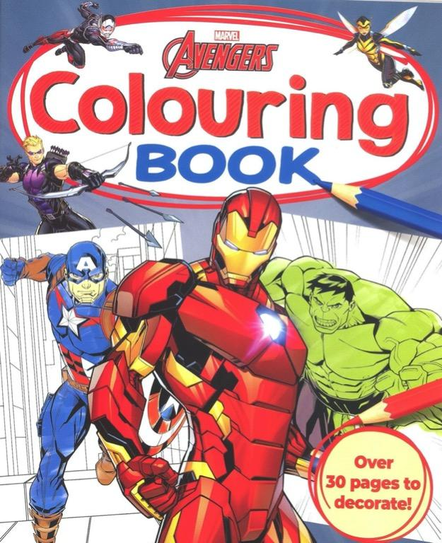 Marvel Avengers Colouring Book Coloring Book Activity Book Children S Book Books Children S Books On Carousell