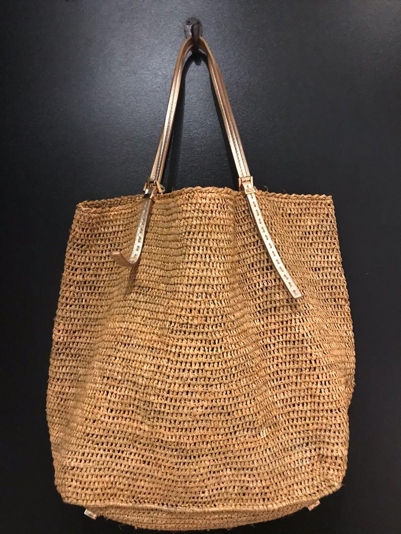 Michael Khors santorini raffia bag
