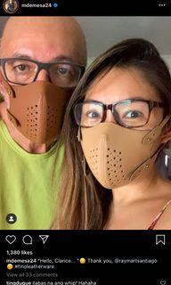ORIGINAL FINO MASCHERINA Face Mask with Filter in Cool Beige
