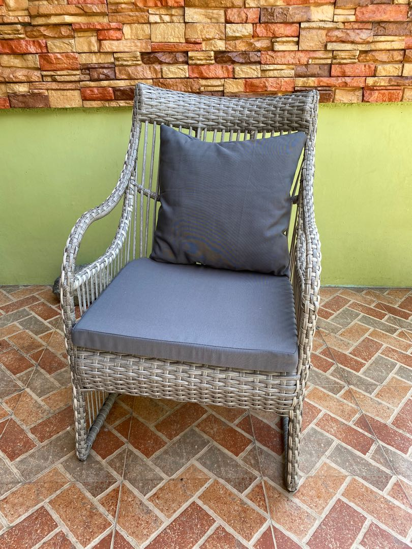 Patio Rattan Plastic Outdoor Chairs Home Furniture Furniture Fixtures Tables Chairs On Carousell