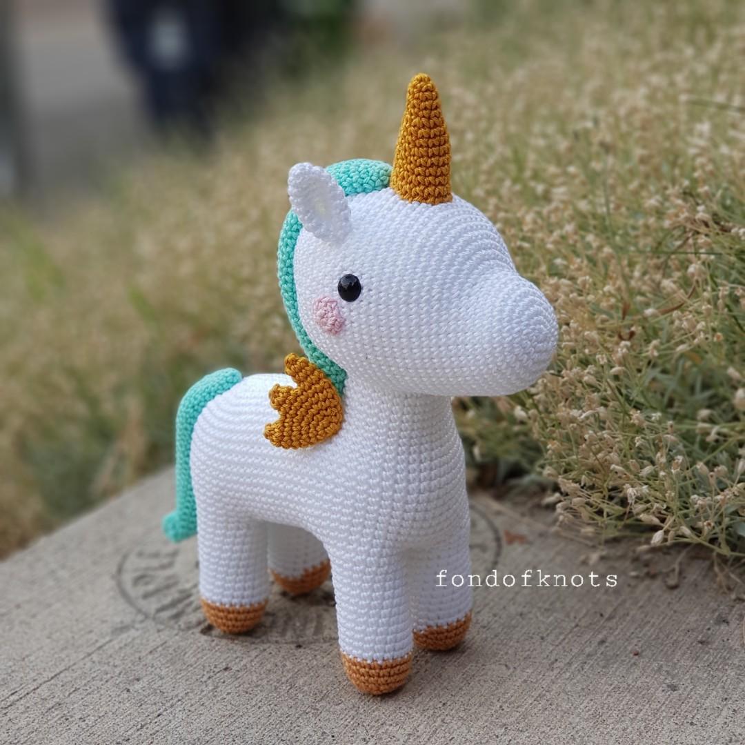 Robin Unicorn, Crochet Unicorn - Ready to ship