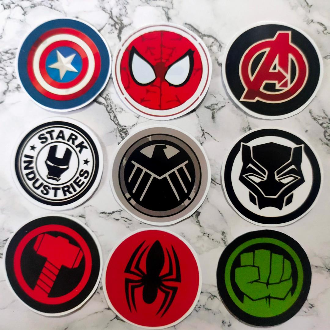 Sticker Avengers- Spiderman, Hulk, Thor, Iron Man