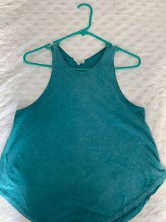 Turquoise Wilfred Free Racerback Tank Size Small