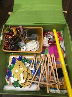 Urgently! Relocation! Please collect tomorrow! Big box of craft materials