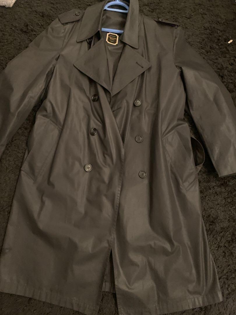 Vintage 1970s Christian Dior Men's Raincoat