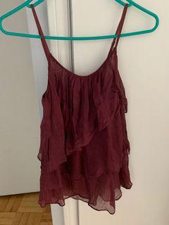 Wilfred Maroon Camisole Size Small