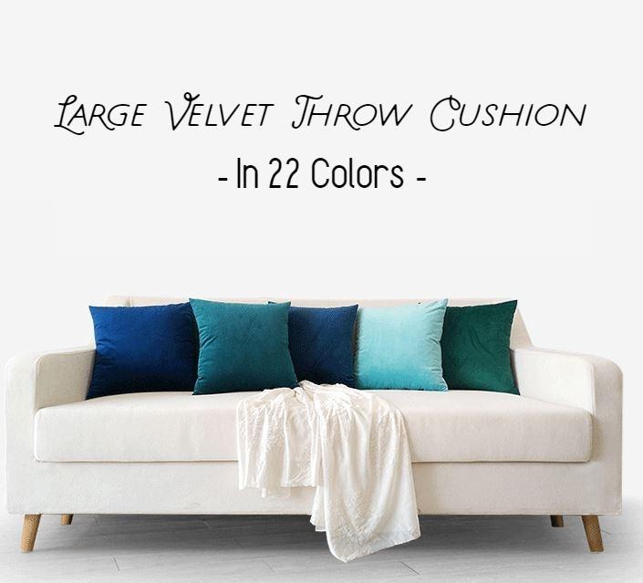 50 55 60cm Luxury Velvet Large Backrest Throw Cushion Decor Furniture Home Decor Cushions Linen On Carousell