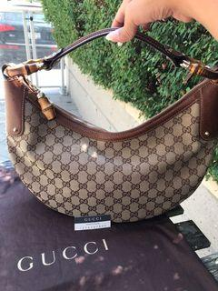 🔥 BNWT Authentic GUCCI Bamboo Large Hobo Purse 🔥