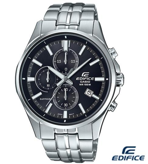 台灣公司貨全新 EDIFICE 經典三眼計時腕錶(EFB-530D-1A)-黑/43.8mm SSB311P1