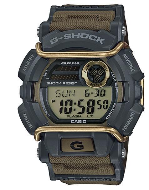 台灣公司貨 G-SHOCK 堅毅配備防撞裝置運動休閒錶GD-400-9DR-黃/卡其咖/49.7mm SNK809K2