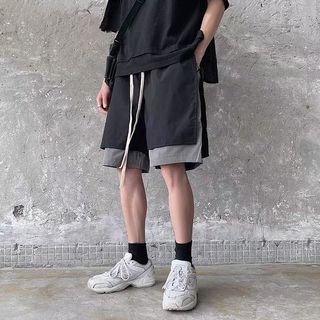 【 Gshop.】夏季短褲男寬鬆運動機能風暗黑五分褲