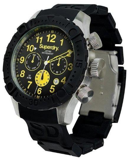 盒子不佳保固七日 Superdry 極度乾燥 Scuba Deep Sea 膠腕錶46mm SYG142B GA-400HR-1A