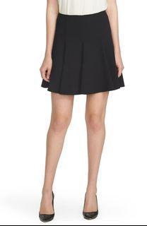 CeCe Crepe Flounce Skirt Black Size 2