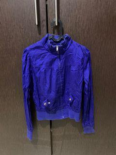 Electric blue jacket
