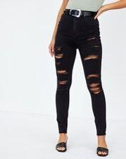 Glassons Destroyed Super High Stretch Skinny Jean