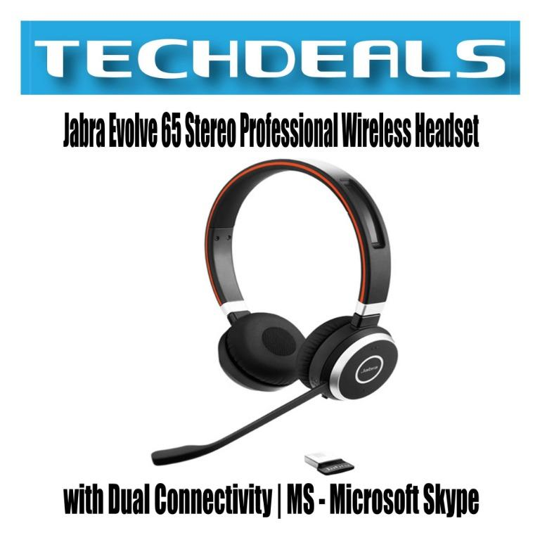 Jabra Evolve 65 Stereo Professional Wireless Headset With Dual Connectivity Ms Microsoft Skype Electronics Audio On Carousell