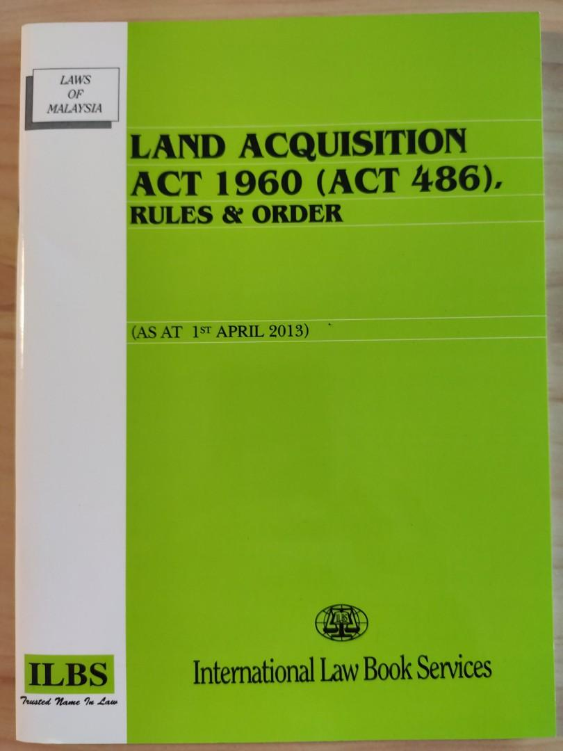 Land Acquisition Act 1960 Act 486 Rules And Orders Textbooks On Carousell