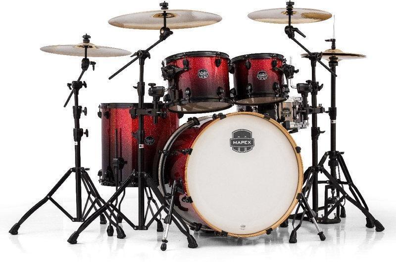 【可議可面可看】珍貴MAPEX爵士鼓組 紅色亮粉漸層烤漆 MAPEX ARMORY AR529S 可以分開購買二手9成新
