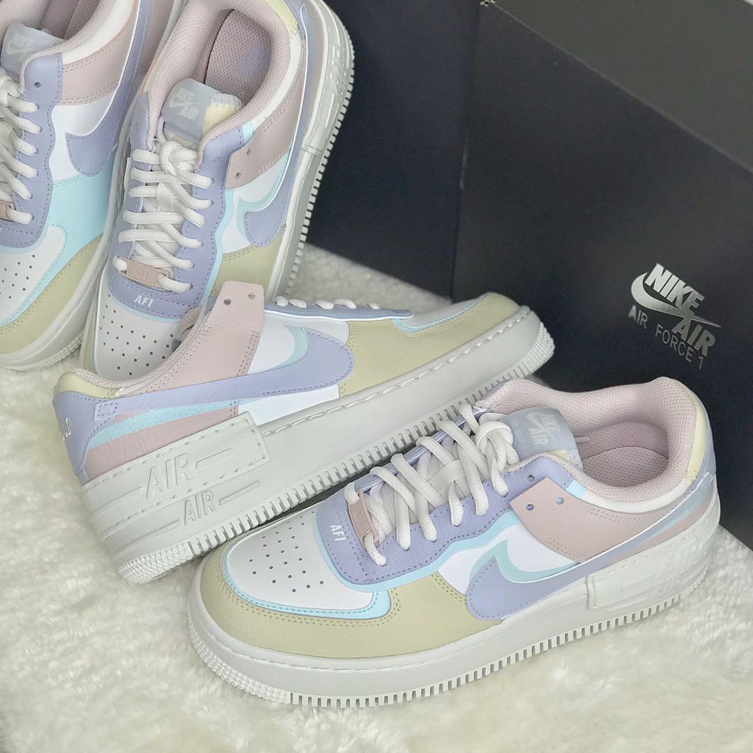 air force 1 shadow pastel blue purple