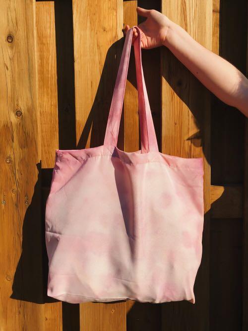 Pink Tie-Dyed  Tote Bag