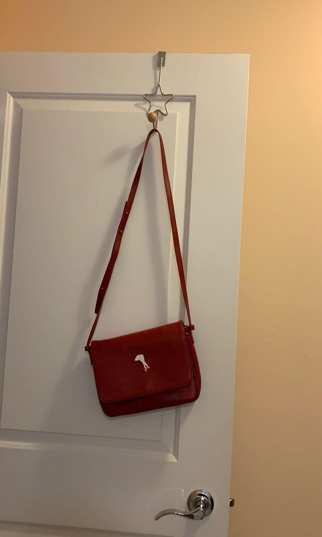 Red designed bag