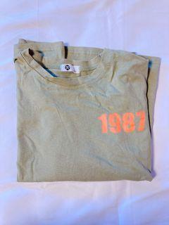 T shirt #軍綠#灰#橘#黃  共4件🧵
