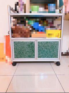 櫥櫃 兩層可移動式置物櫃 收納
