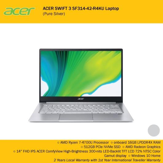 Acer Swift 3 Sf314 42 R4ku Laptop Pure Silver Electronics Computers Laptops On Carousell