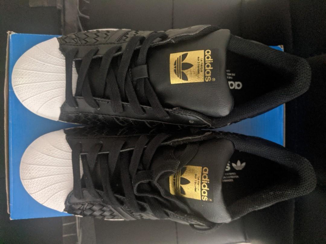 Adidas™ Superstar Woven (Black/Gold