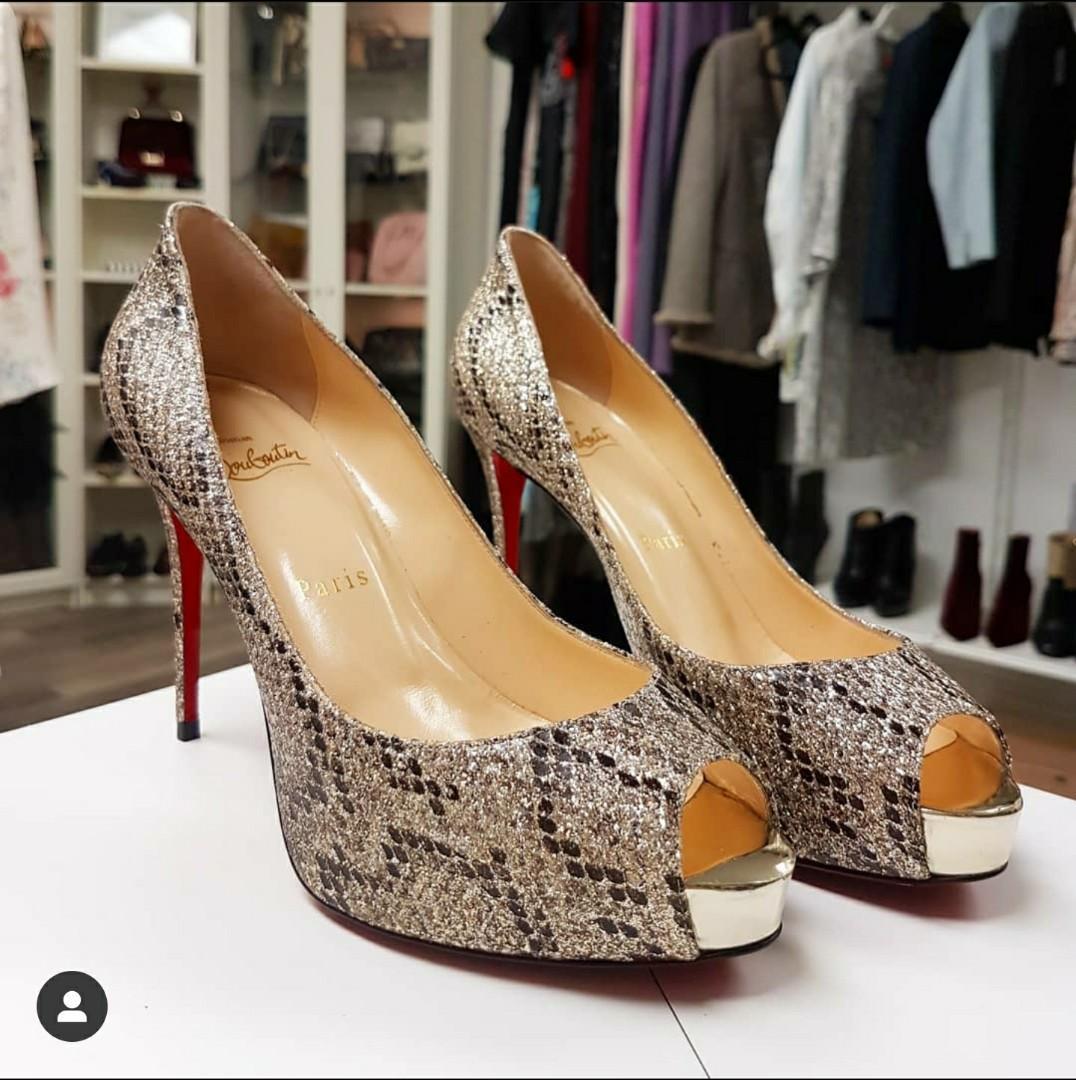 Christian Louboutin New Very Prive 100 Glitter Heels