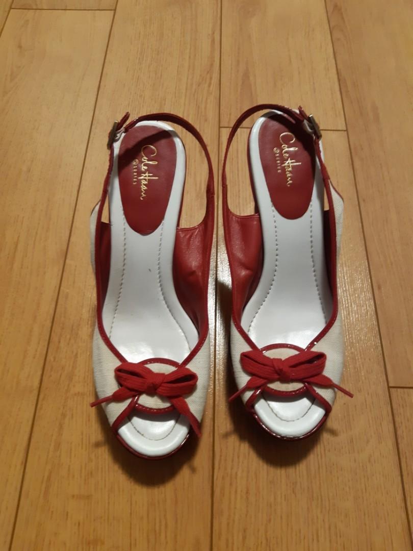 COLE HAAN SERIES NIKE AIR Buckle Wedge Sandal Shoes
