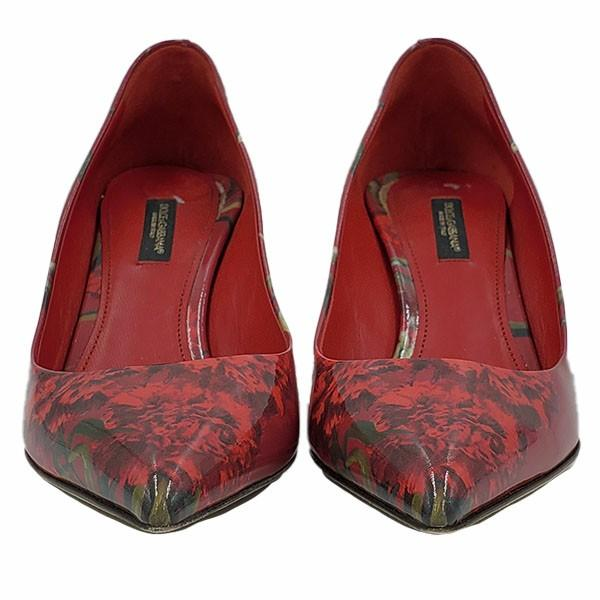 Dolce & Gabbana Patent Leather Floral Pumps