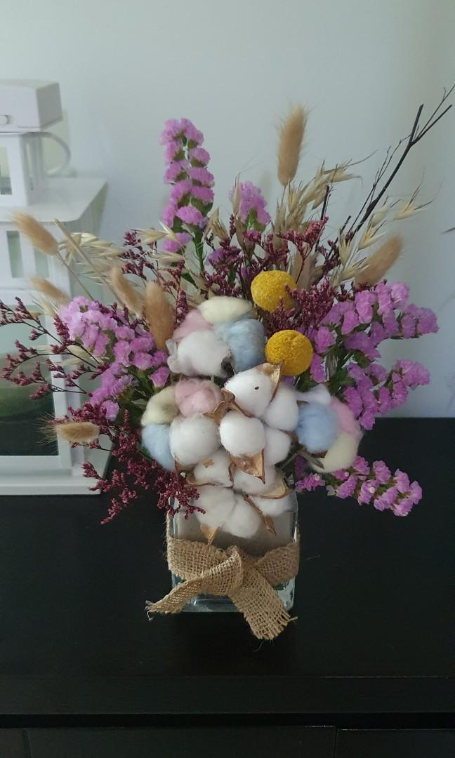 Dried Flower Bouquet Birthday Anniversary Get Well Soon Surprise Christmas Gardening Flowers Bouquets On Carousell