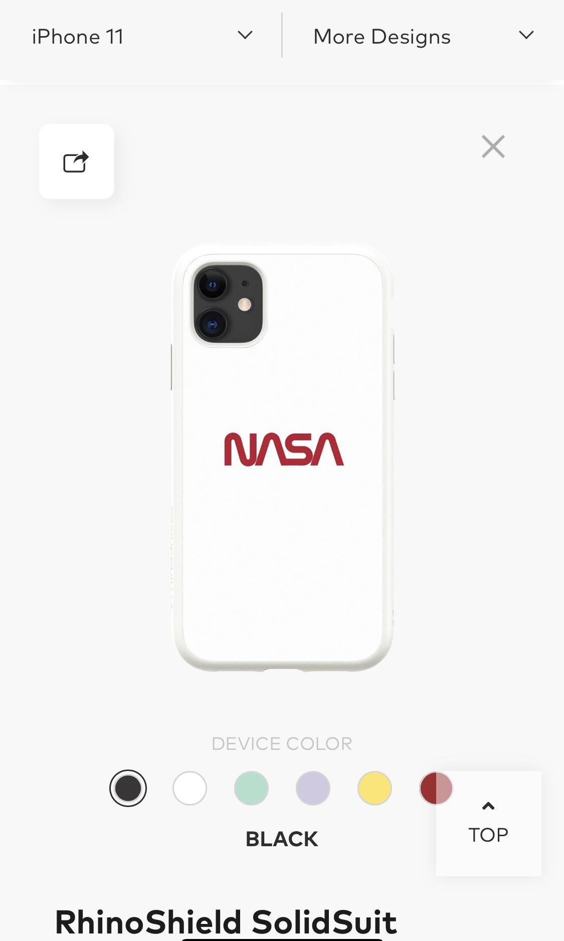 Iphone 11 Rhinoshield Nasa Case Mobile Phones Tablets Mobile Tablet Accessories Cases Sleeves On Carousell