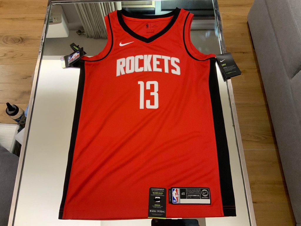 Desconocido miseria Grifo  James Harden Jersey Nike, Sports, Athletic & Sports Clothing on Carousell