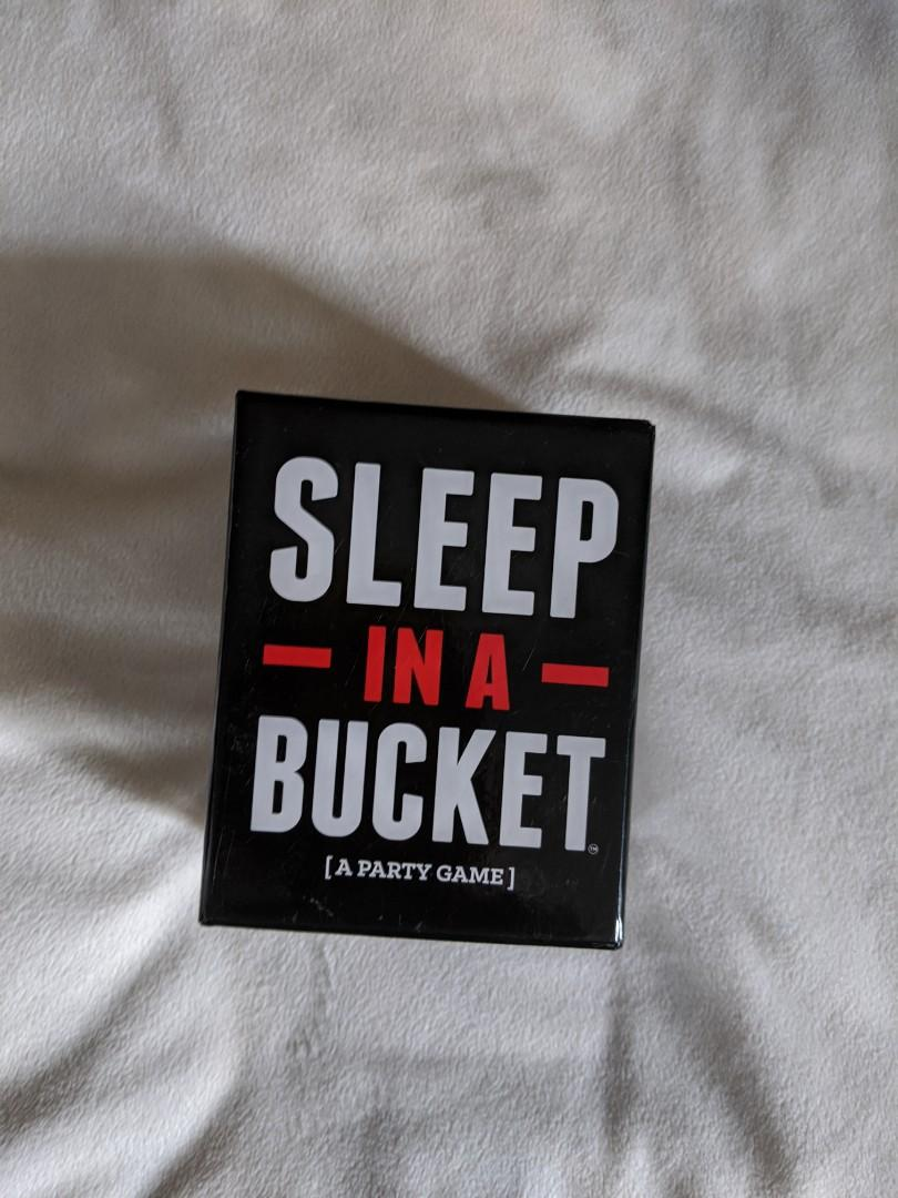 """LIKE NEW """"Sleep in a Bucket"""" Card Game used only once"""