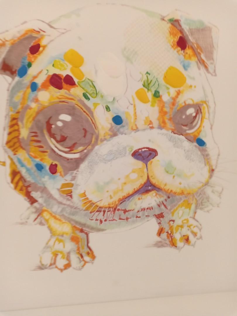Painting canvas cute dog 60x60 #MakingTheBest #Agustus2020