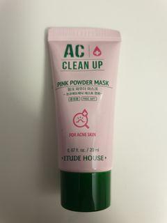 Pink powder mask