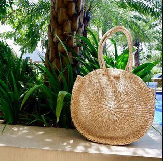 Round Woven Abaca Bag