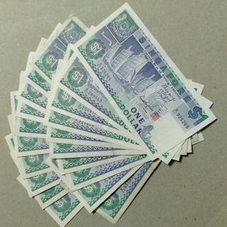 Singapore $1 dollar x20pcs ship 3rd series EF-VF