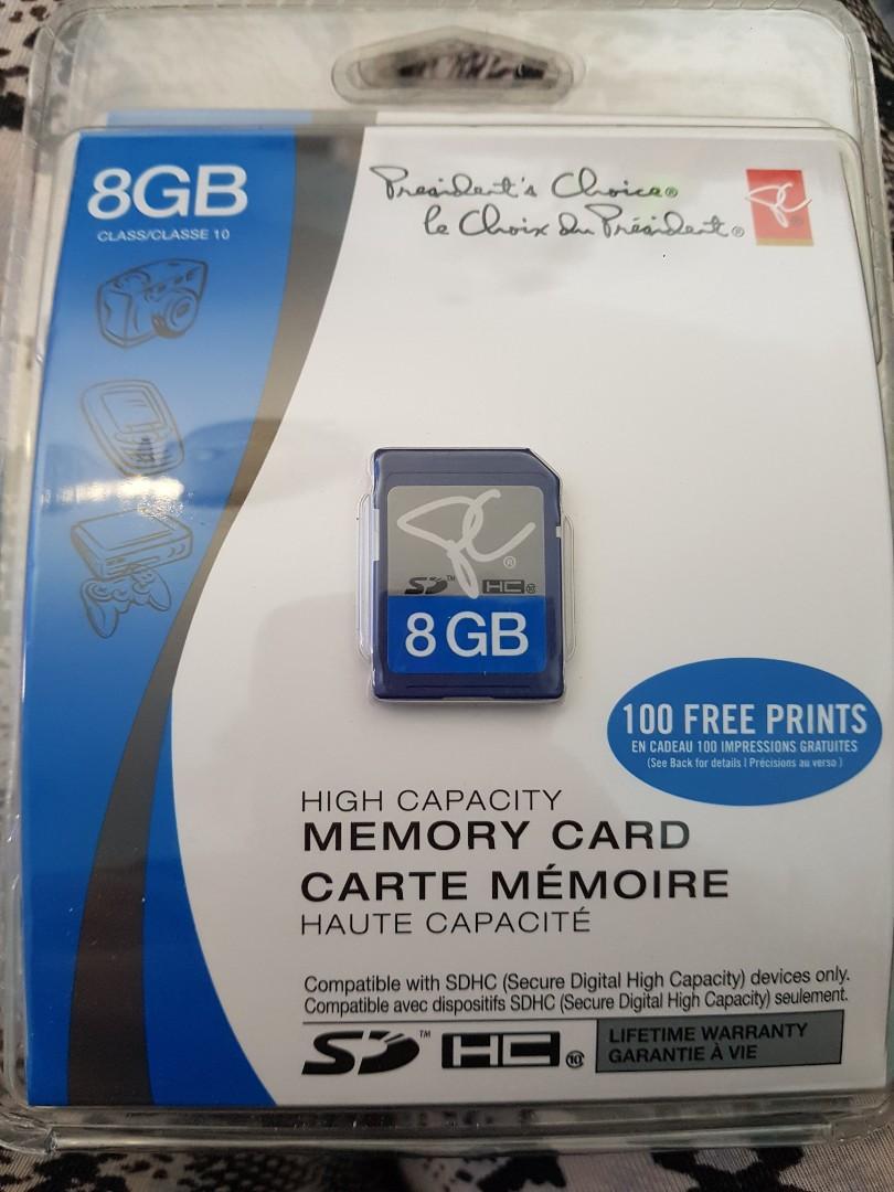 8GB SDHC Memory card NEW
